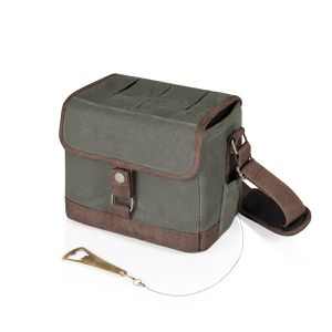 Beer Caddy Khaki Green and Brown Cooler Tote with Opener by Legacy for Sale in Salt Lake City, UT