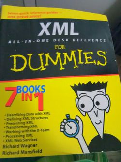 XML for Dummies All in One Desk Reference for Sale in Waco,  TX
