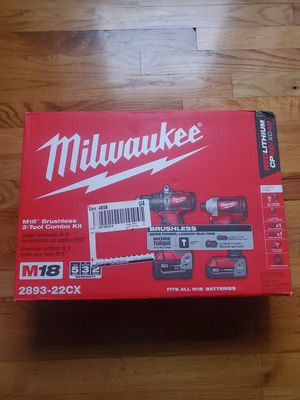 Milwaukee M18 18-Volt Lithium-Ion Brushless Cordless Hammer Drill/Impact Combo Kit (2-Tool) with 2 Batteries, Charger and Bag for Sale in Frederick, MD