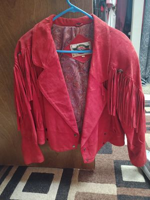 Red suede jacket for Sale in Aurora, CO
