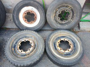 14 inch wide 5 Volkswagen steel rims. Beetle bug van for Sale in Montebello, CA