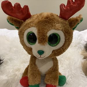 Ty Beanie Boos - Alpine Reindeer (Glitter Eyes, Red & Green) for Sale in Orange, CA