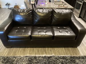 Faux leather couches for Sale in San Antonio, TX