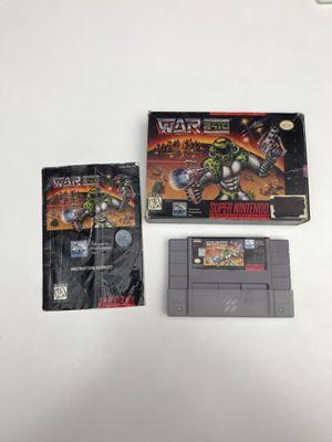 War 2410 Super Nintendo SNES for Sale in Snohomish, WA