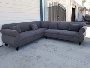 NEW 9X9FT ANNAPOLIS GRANITE FABRIC SECTIONAL COUCHES for Sale in Los Angeles, CA