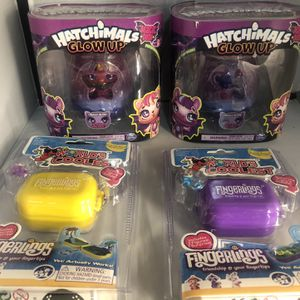 New Spin Master Hatchimals Glow Up Wowwee Fingerlings Mini Play Set for Sale in Edgewater, NJ