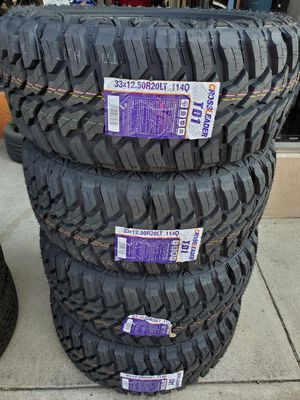 33X12.50 R20 LT MUD TERRAIN TIRES for Sale in Rancho Cucamonga, CA