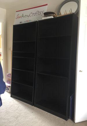 Black Adjustable Bookshelves for Sale in Upper Marlboro, MD