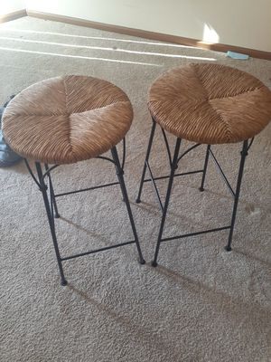 2 wicker top bar stools for Sale in Weldon Spring, MO