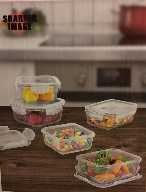 Sharper Image Glass Storage Containers For Sale In Egg Harbor