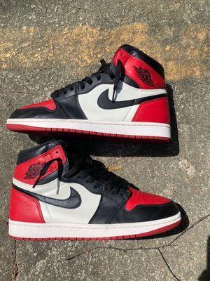 Jordan 1 bred toe size 11 for Sale in Cheswick, PA