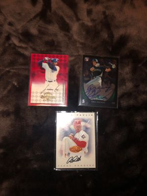 Three Autographed Baseball Cards for Sale in Fort Myers, FL