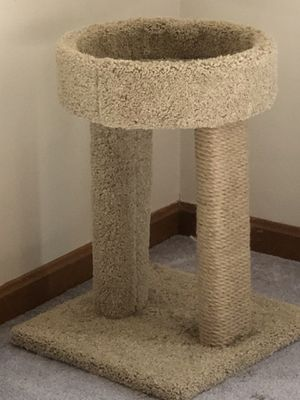 Small cat tree with double scratching posts for Sale in Derry, NH
