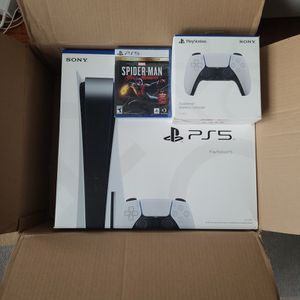 Sony PS5 - Playstation 5 Console (Bundle - Spiderman + Controller) for Sale in Queens, NY
