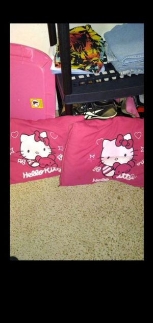 Hello Kitty pillows both for $6 for Sale in Victorville, CA