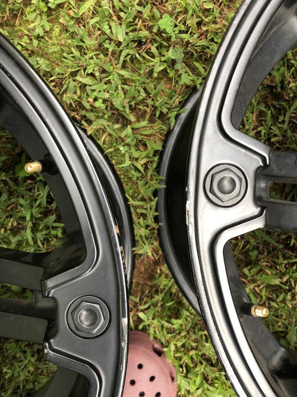 -12 Offset Jeep Wrangler Wheels (5 Wheels no tires)