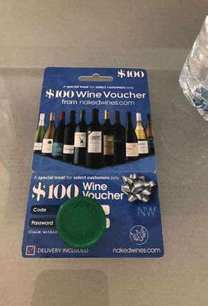 $100 wine voucher for free. for Sale in Centreville, VA