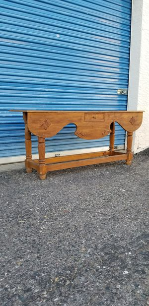 Rustic solid wood console table. Could be used as an entry table, sofa table or TV stand. . for Sale in Phoenix, AZ