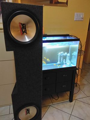 Mtx woofers and boss amp for Sale in Houston, TX