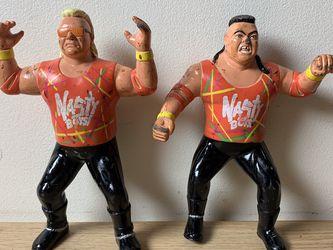 WWF LJN WCW TAG TEAM ORANGE NASTY BOYS - BRIAN KNOBBS & JERRY SAGGS 1994 OSFTM WRESTLING FIGURE SERIES 2 for Sale in Morristown,  NJ