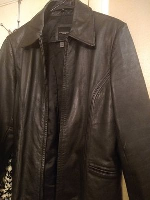 Black Leather Coat for Sale in Monroe, LA