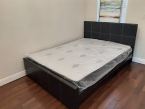 NEW QUEEN SIZE BED FRAME MATTRESS SOLD SEPERATELY AVAILABLE FOR DELIVERY for Sale in Fort Lauderdale, FL