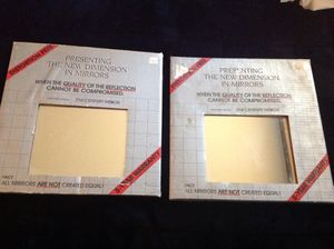 2 Packages of glass wall mirrors - Never used. for Sale in Hesperia, CA