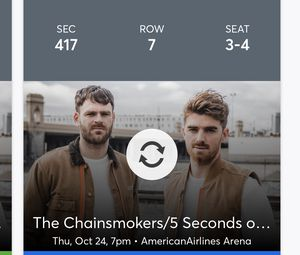 2 Tickets. The Chainsmokers. This Thursday! Miami! for Sale in Fort Lauderdale, FL
