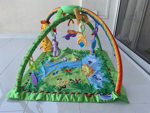 Fisher-Price Rainforest Melodies and Lights Deluxe Gym for Sale in Pompano Beach, FL