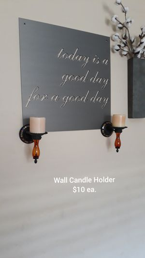 Wall Candle Decor for Sale in Bakersfield, CA
