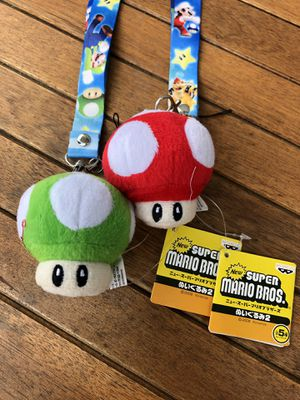Super Mario bros mushroom stuffed animal keychain for Sale in Anaheim, CA