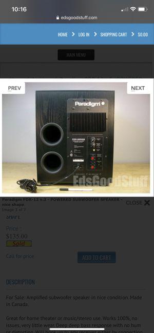 Paradigm pdr -12 v3 for Sale in Stockton, CA