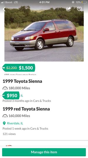 1999 Toyota Sienna for Sale in Riverdale, IL