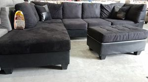 Sectional Couch And Ottoman for Sale in Austin, TX