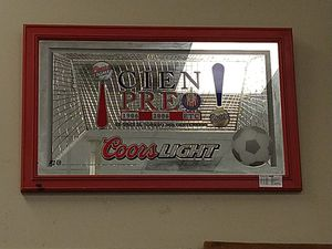 Coors Light Soccer Mirror Decor for Sale in Victoria, TX