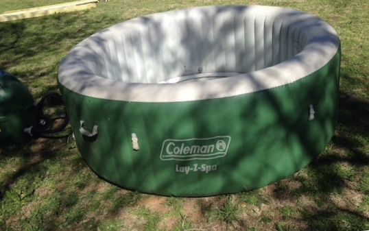 Coleman Inflatable hot tub.