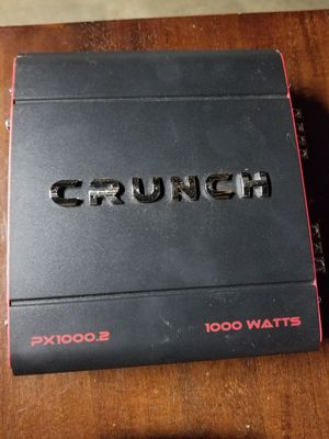 Crunch 1000watt 2 channel amp for Sale in Fresno, CA
