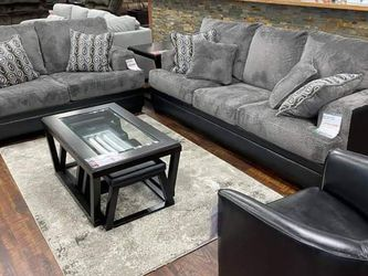 Millingar Smoke Living Room Set (Sofa And loveseat) Same Day Delivery for Sale in Houston,  TX