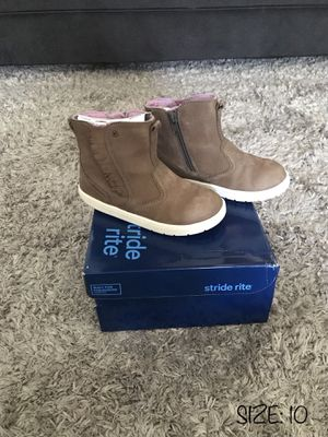 LIKE NEW❗️STRIDE RITE BOOTS - VERY COMFORTABLE‼️- TODDLER BABY GIRL SIZE 10 for Sale in Houston, TX