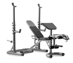 Weider XRS 20 Adjustable Bench with Olympic Squat Rack and Preacher Pad, 610 Lb. Weight Limit for Sale in Houston,  TX