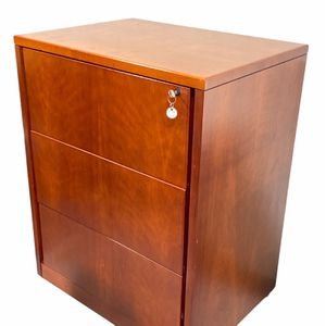 Solid Wood 3 Drawer Lateral File Cabinet (Mahogany) for Sale in Miami Springs, FL
