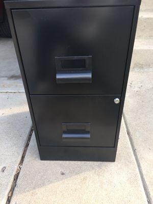 File. Cabinet Black. (2) Drawers. Keys for Sale in Littleton, CO