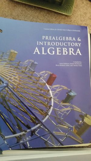 Prealgebra & Introductory Algebra for Sale in Jacksonville, FL