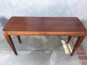 Red wood console for Sale in Huntington Beach, CA
