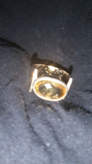Sterling silver ring yellow stone for Sale in Spindale, NC