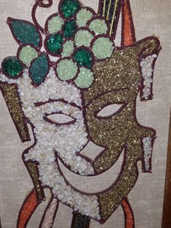 Vintage Mid Century Gravel Art Picture for Sale in Oregon City,  OR
