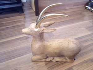 Hand carved goat for Sale in San Jose, CA