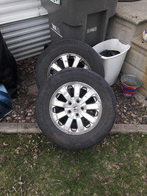 Set of 2 Honda Rims/tires for Sale in Rochester, MN