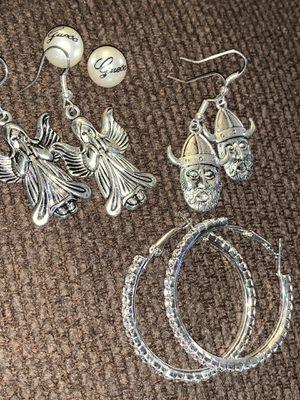 Earring/bundle/dazzling-hoops/guess pearls/angel/knights for Sale in Virginia Beach, VA