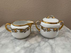 Porcelain sugar and creamer set for Sale in Las Vegas, NV